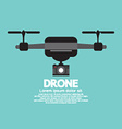 Side View Of Drone vector image