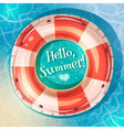 Swimming ring on water vector image