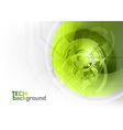 tech background green corner round vector image vector image