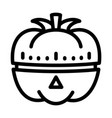 vegetable kitchen timer icon outline style vector image