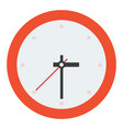 wall clock without dial flat isolated vector image