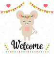 welcome inspirational quote hand drawn vector image vector image