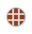 flat style colored medieval round shield icon vector image