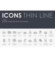casino Thin Line Icons vector image