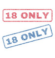 18 only textile stamps vector image vector image