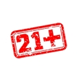 21 plus rubber stamp vector image