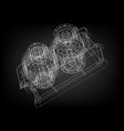 3d model of the reducer vector image vector image