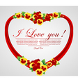 abstract heart with bow vector image vector image