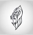 baboon logo icon design vector image