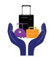 Baggage insurance sign icon Travel luggage vector image vector image