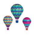 balloons air hot flying vector image