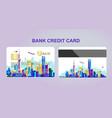 bank card city vector image