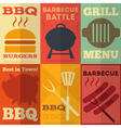 Barbecue Posters vector image