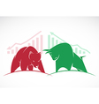 Bears and bulls vector image