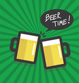Beer time flat design vector image