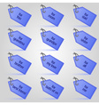 blue christmas gift tags and labels set eps10 vector image vector image