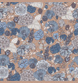botanical seamless pattern with beautiful blue vector image
