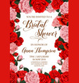 bridal shower invitation card with flower frame vector image vector image