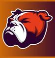 bulldog head logo icon vector image vector image