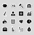 business icons stikers vector image vector image