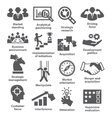 Business management icons Pack 27 vector image vector image
