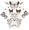 Butterfly graphic print vintage retro vector image vector image