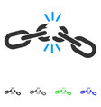 chain damage flat icon vector image vector image