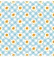 chamomile seamless pattern daisies on blue vector image