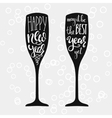 Champagne New Years lettering vector image vector image