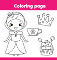 children educational game coloring page with cute vector image vector image