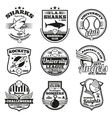 college athletic labels logos badges vector image