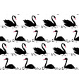 couple of black swan seamless pattern vector image vector image