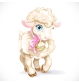 Cute little sheep isolated on a white background vector image vector image
