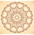 Decorative mandala in Indian mehndi style vector image vector image
