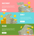 different money and cash banners vector image