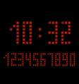 digital apocalypse clock alarm clock letters vector image