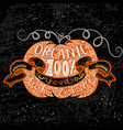 doodle hand drawn poster with pumpkin with eco vector image