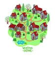 emblem cottage village graphics vector image