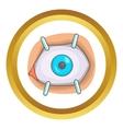 Eye procedure icon vector image