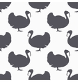 Farm bird silhouette seamless pattern Turkey meat vector image vector image