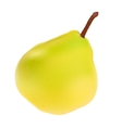 Green Pear Isolated on White Background vector image