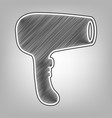 hair dryer sign pencil sketch imitation vector image vector image