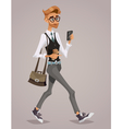 Happy young businessman vector image vector image