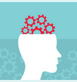head and brain work brain storming successful vector image