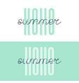hello summer font lettering hello summer vector image