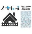 Home Fence Icon with 1000 Medical Business vector image vector image