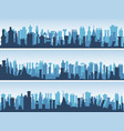 horizontal banners of roofs with numerous chimneys vector image vector image