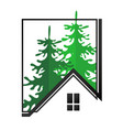 house silhouette and trees vector image
