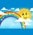 image with rainbow theme 7 vector image vector image