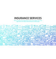 insurance services concept vector image vector image